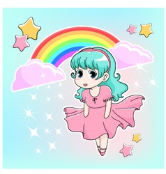 manga girl vector image vector image