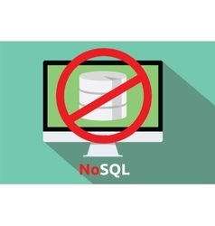 nosql database new concept vector image vector image