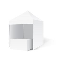 promotional outdoor pop-up tent vector image