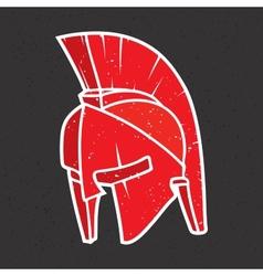 Warrior helmet vector image