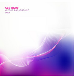 Abstract template blue and purple blurred vector