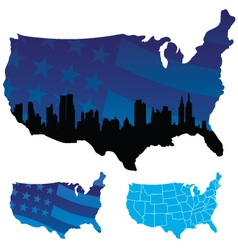 American map vector image