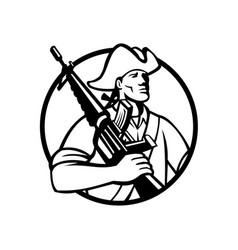 American patriot revolutionary solder vector