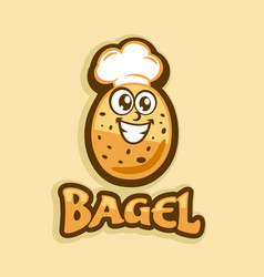 bagel and baking logo vector image