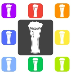beer in glass icon Flat vector image
