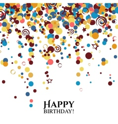 birthday card with polka dots and wishes text vector image