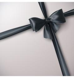 Black Bow And Ribbon vector image