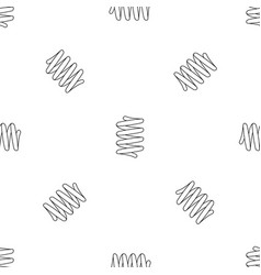 Car spring coil pattern seamless vector
