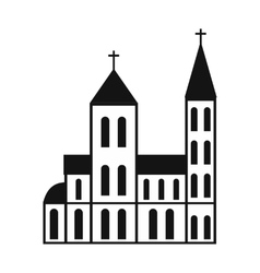 Catholic church simple icon vector