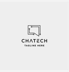 chat technology logo design talk internet symbol vector image