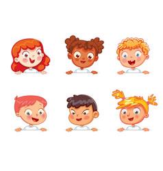 children holding blank poster vector image