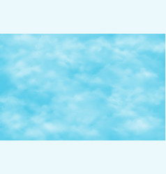 clear blue sky with groups of clouds background vector image