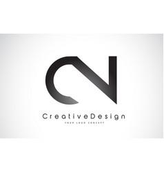 Cn c n letter logo design creative icon modern vector