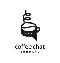 Coffee chat logo design vector