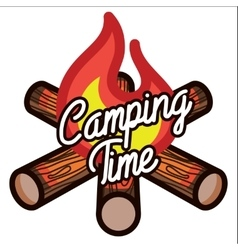 Color vintage Camping emblem vector