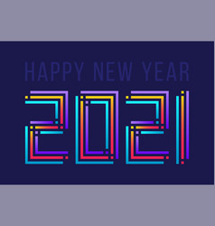 colorful happy new year 2021 celebration greeting vector image