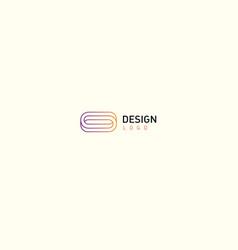 contour modern logo rings vector image