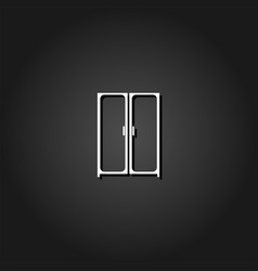 cupboard wardrobe icon flat vector image