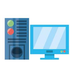 desk computer symbol vector image