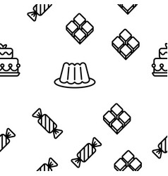 desserts pastry sweets seamless pattern vector image