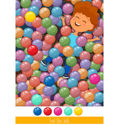 Educational children game toddlers activity vector