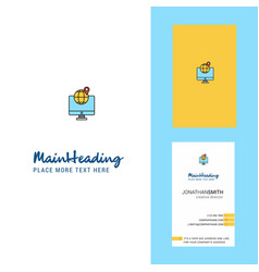 find location creative logo and business card vector image