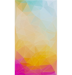 fresh color triangle background vector image