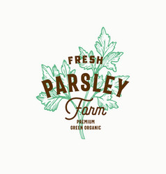 fresh parsley farm abstract sign symbol or vector image