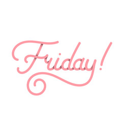 Friday in pink typography design isolated vector