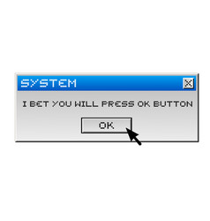 Funny computer message vector