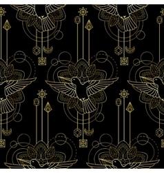 Geometric colibri seamless pattern vector