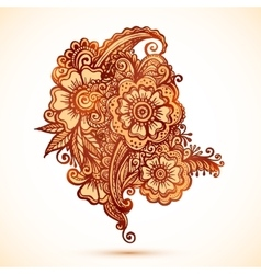 Hand-drawn ornaments set in Indian mehndi style vector image vector image