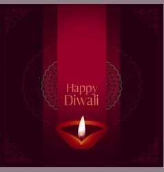 Happy diwali occasion festival card design vector