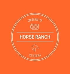 Horse Label vector image
