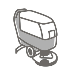 icon of scrubber machine vector image