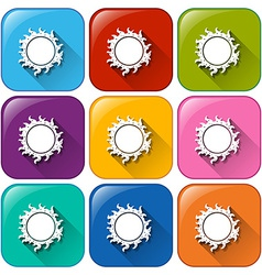 Icons with a sun vector image