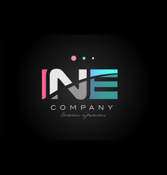 ine i n e three letter logo icon design vector image