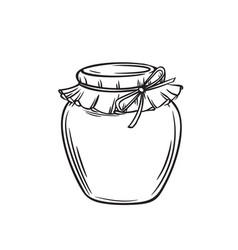 Jar of honey or glass jar vector