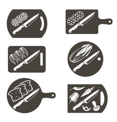 Kithen cutting boards set vector