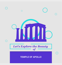 Lets explore beauty temple apollo vector