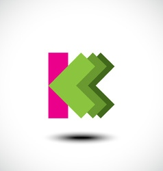 Letter K logo icon design template element vector image