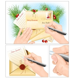Letter to Santa vector