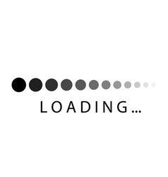 loading icons download icon loading bar white vector image
