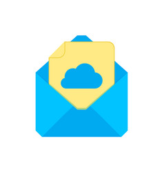 mail symbol envelope icon add to cloud envelope vector image