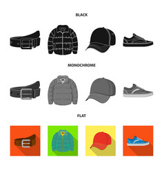 Man and clothing icon set vector