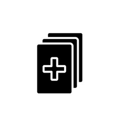 medical records icon black vector image