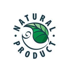 natural product logo vector image
