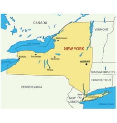 new york - state usa vector image