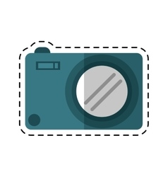 Photo camera picture image cutting line vector