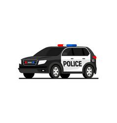 police car truck suv security overhead cartoon vector image